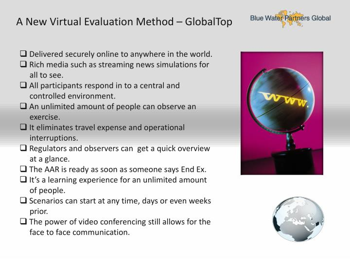 A New Virtual Evaluation Method – GlobalTop