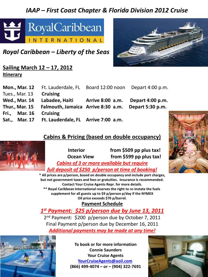 IAAP – First Coast Chapter & Florida Division 2012 Cruise