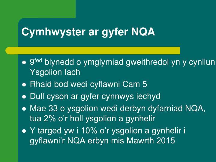 Cymhwyster ar gyfer NQA