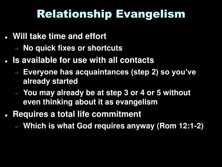 Relationship Evangelism
