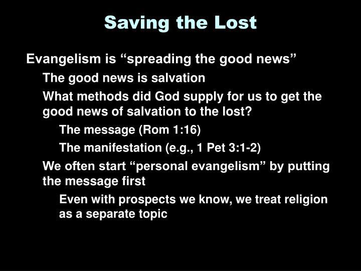 Saving the Lost