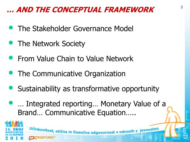 And the conceptual framework