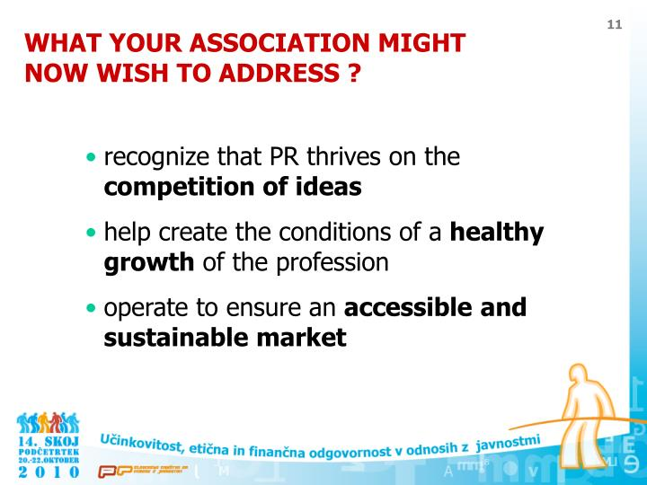 WHAT YOUR ASSOCIATION MIGHT NOW WISH TO ADDRESS ?