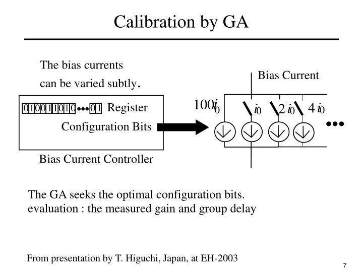Calibration by GA
