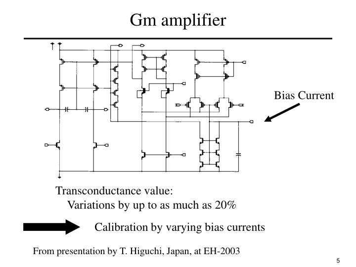 Gm amplifier