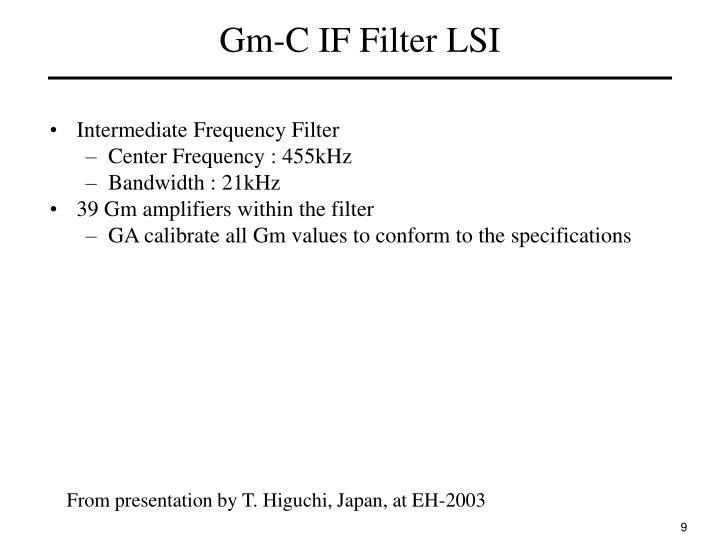 Gm-C IF Filter LSI