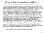 review transconductance amplifiers