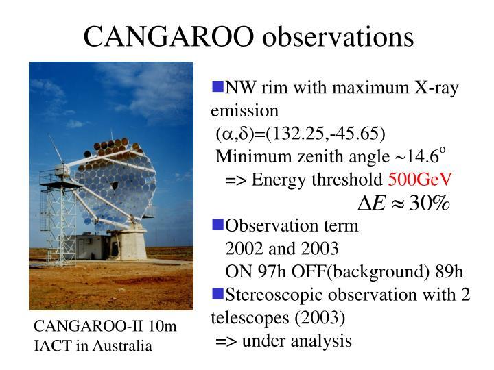 CANGAROO observations