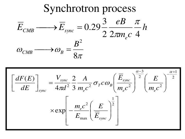 Synchrotron process