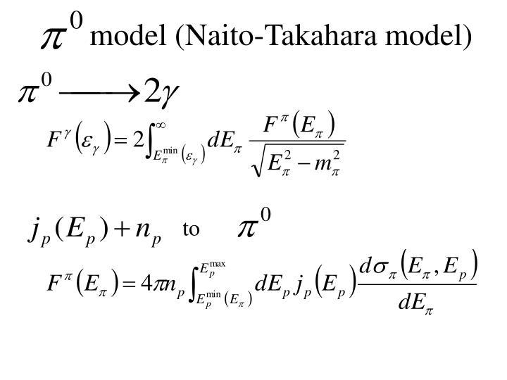model (Naito-Takahara model)
