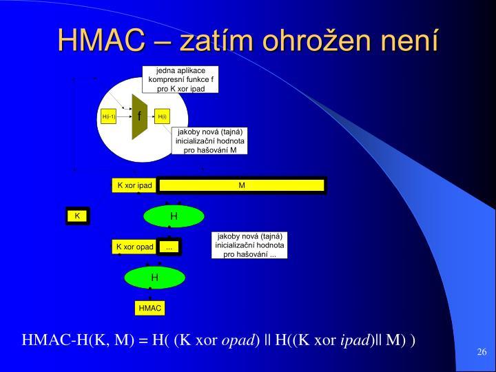 HMAC – zatím ohrožen není