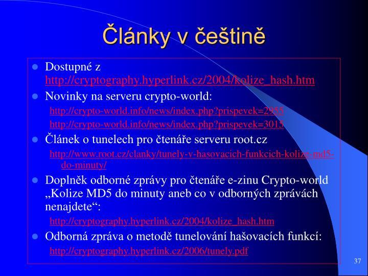 Články v češtině