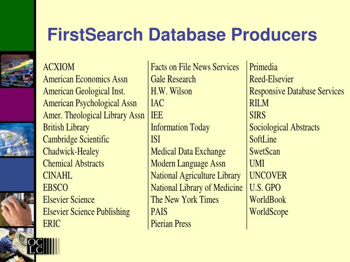 FirstSearch Database Producers