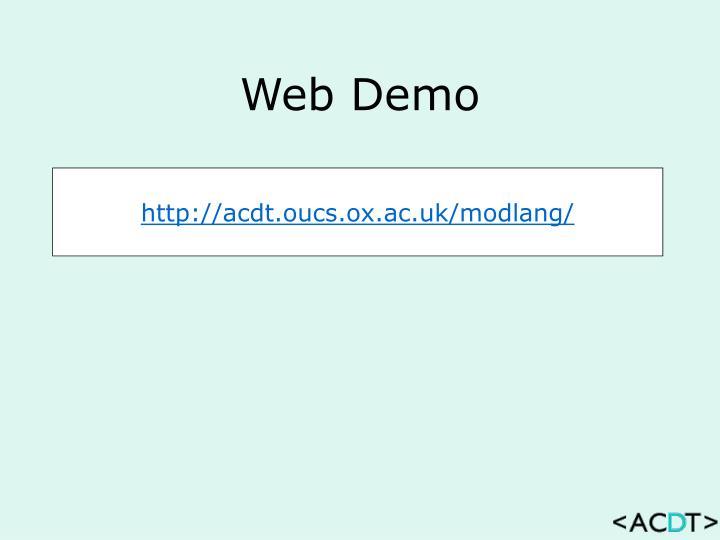 Web Demo