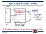 specialized branch inlining
