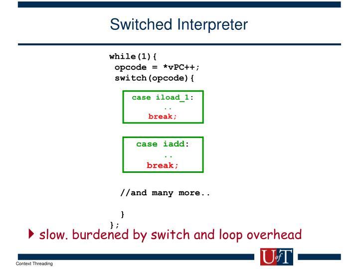 Switched Interpreter