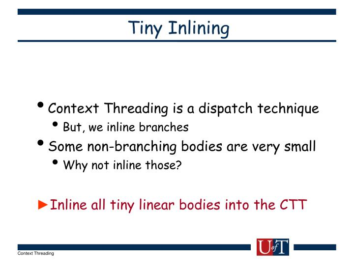Tiny Inlining