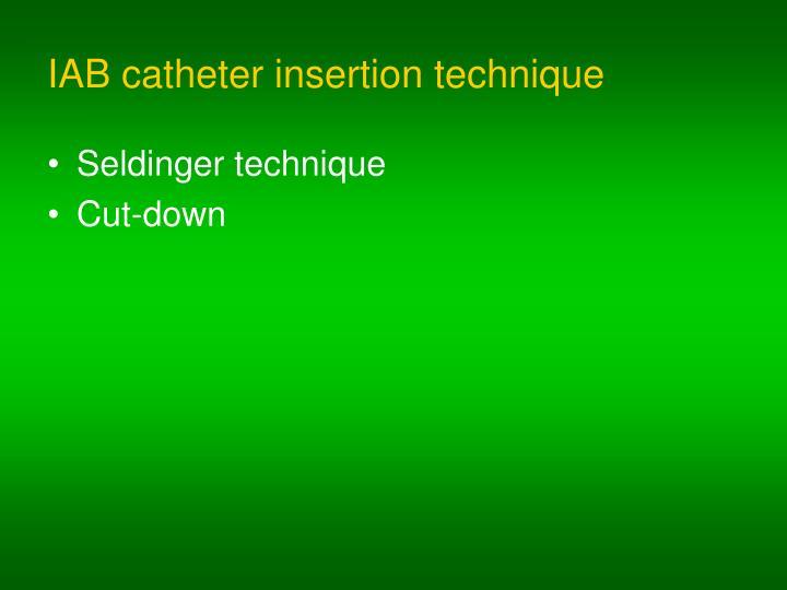 IAB catheter insertion technique