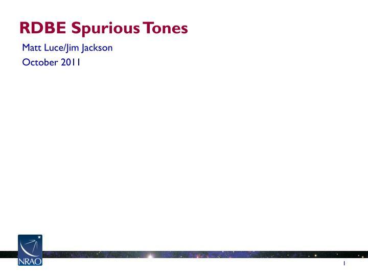 RDBE Spurious Tones