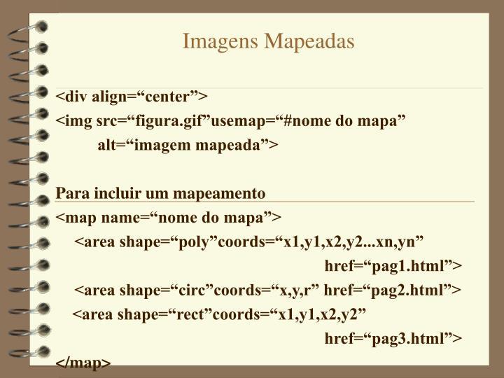 Imagens Mapeadas