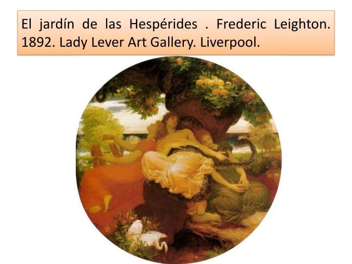 El jardín de las Hespérides .