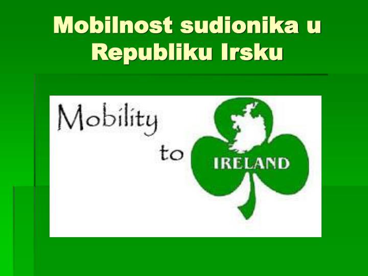 Mobilnost sudionika u Republiku Irsku