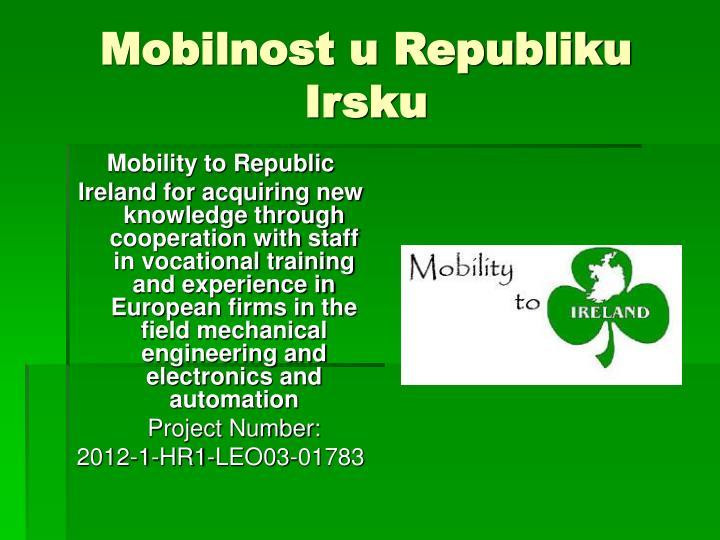 Mobilnost u Republiku Irsku