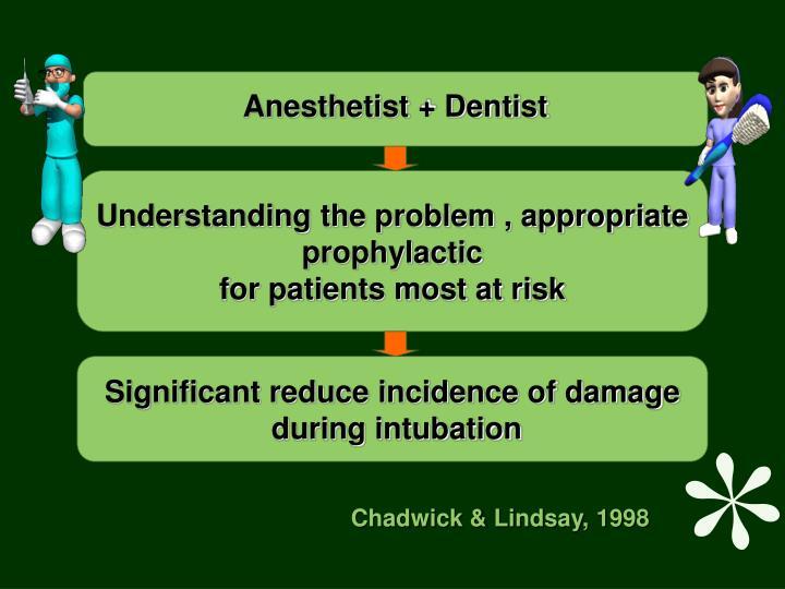 Anesthetist + Dentist