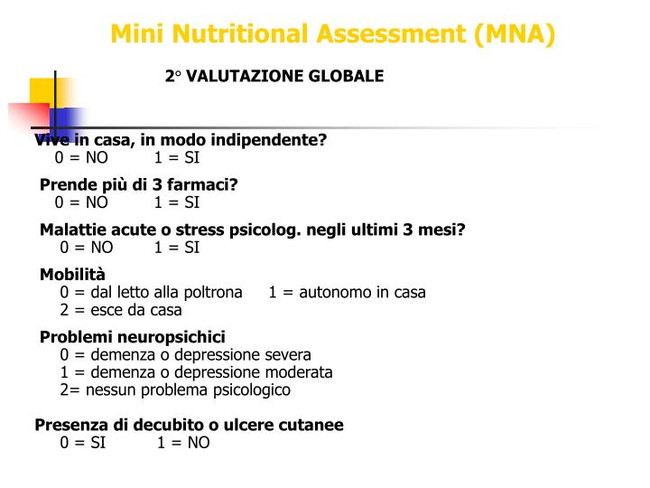 Mini Nutritional Assessment (MNA)