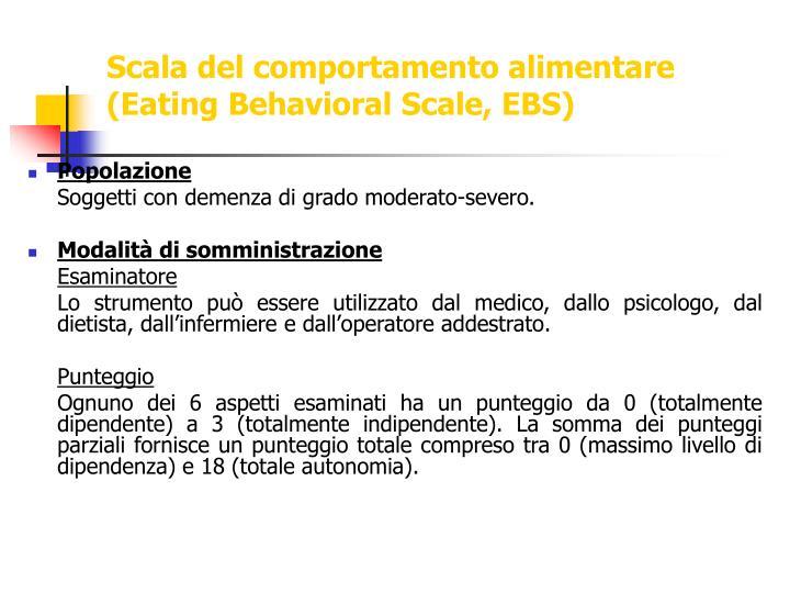 Scala del comportamento alimentare