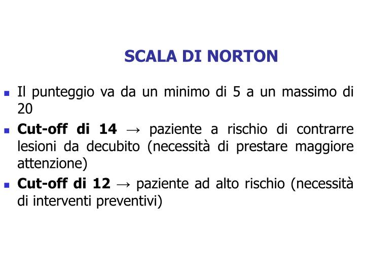 SCALA DI NORTON