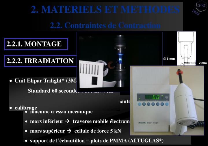 2. MATERIELS ET METHODES