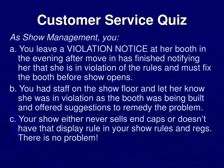 Customer Service Quiz
