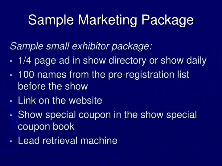 Sample Marketing Package