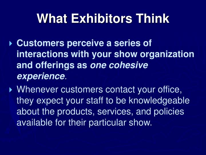 What Exhibitors Think
