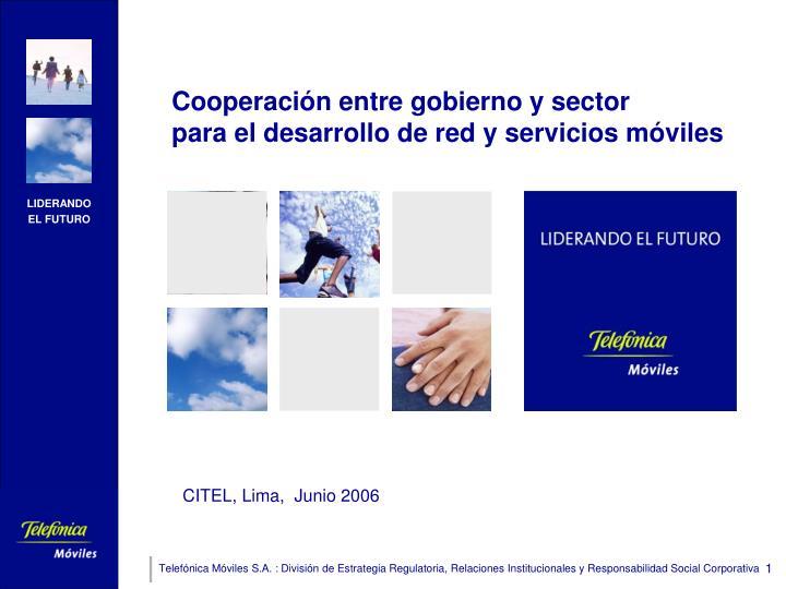 Cooperación entre gobierno y sector
