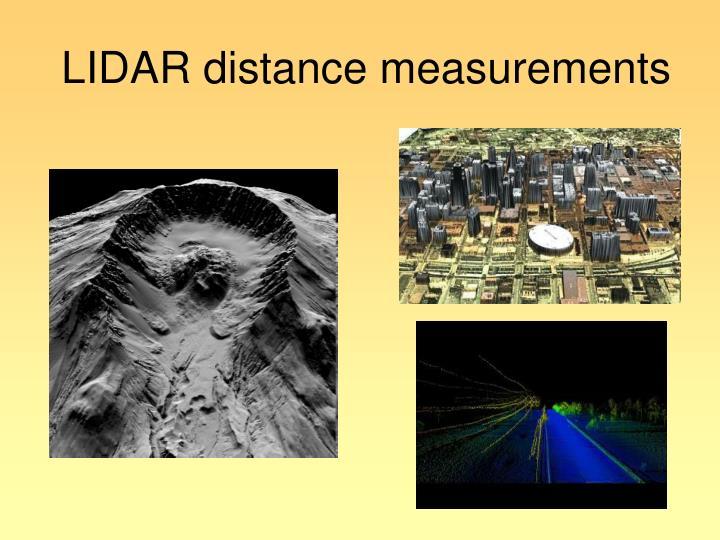 LIDAR distance measurements