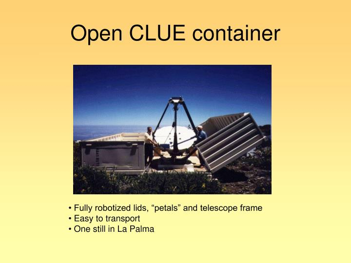 Open CLUE container
