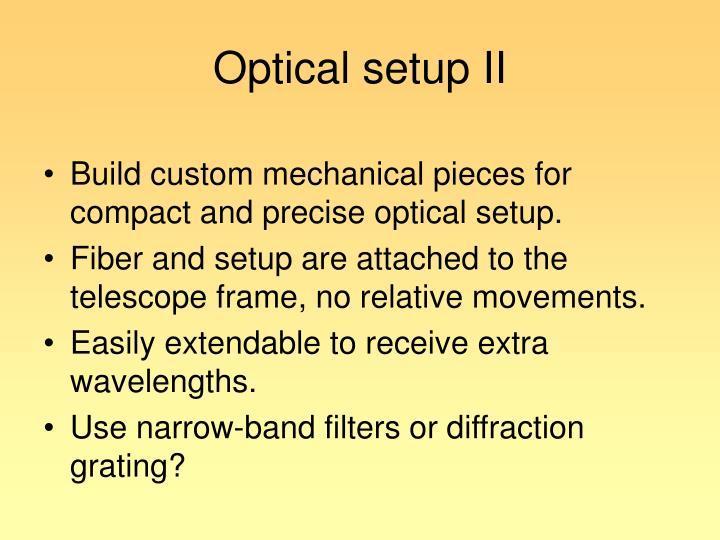 Optical setup II