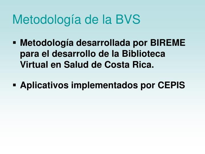 Metodología de la BVS