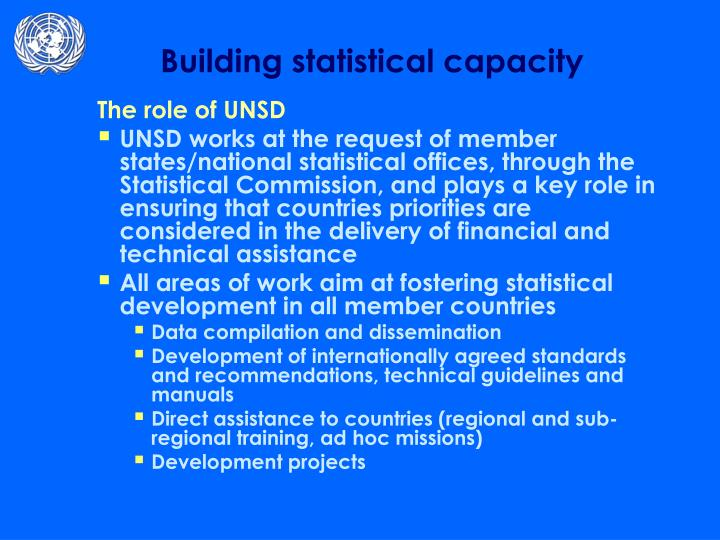 The role of UNSD