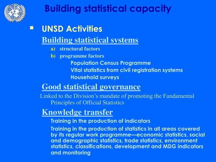 UNSD Activities