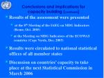 conclusions and implications for capacity building continued