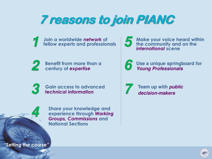 7 reasons to join PIANC