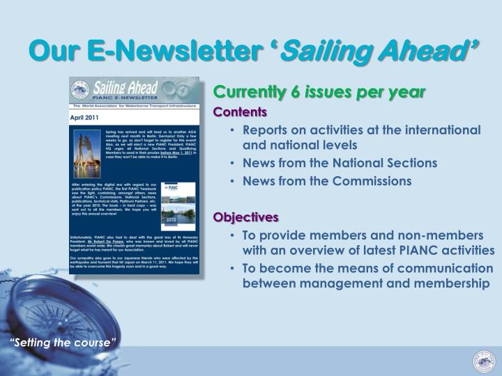 Our E-Newsletter '