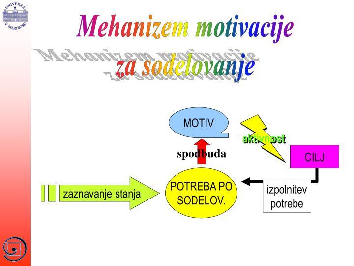 Mehanizem motivacije