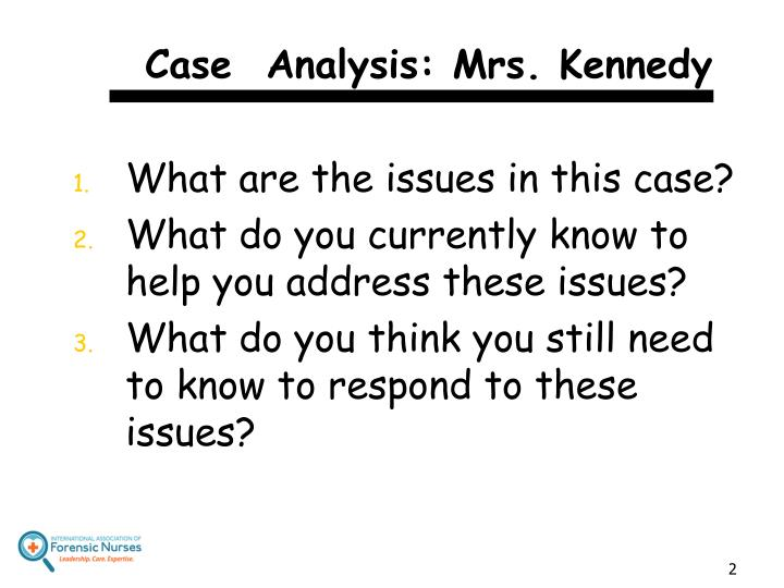 Case analysis mrs kennedy