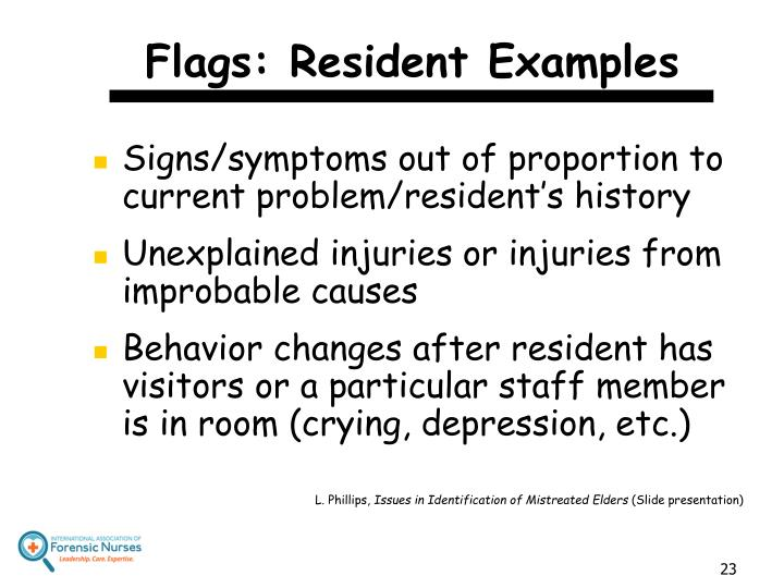Flags: Resident Examples