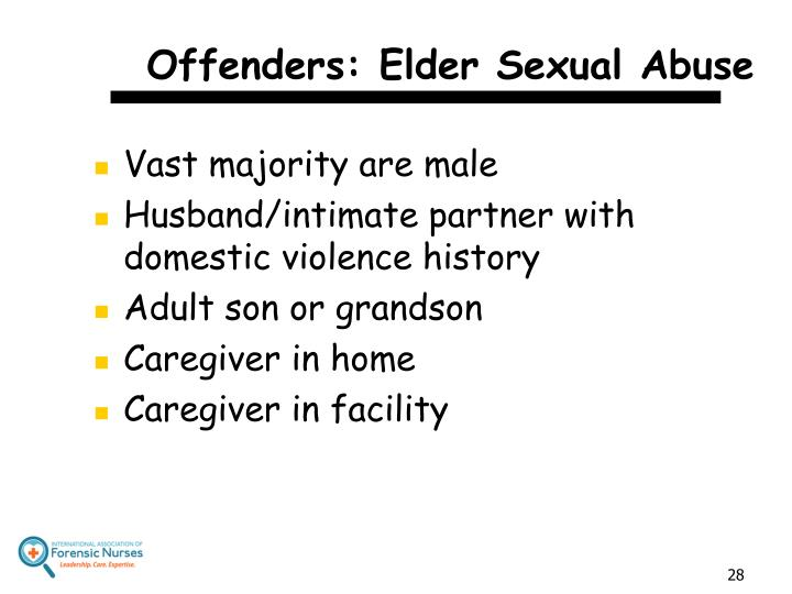 Offenders: Elder Sexual Abuse