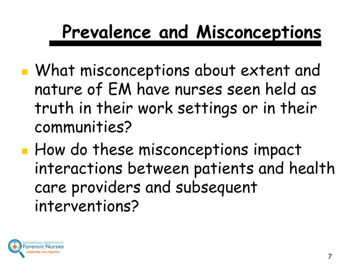 Prevalence and Misconceptions